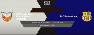 LIVE VIDEO | Phoenix Constanţa - FCC Baschet Arad