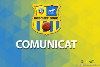 Comunicat FCC Baschet Arad 12 martie 2020
