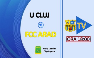 LIVE VIDEO: Universitatea Cluj - FCC Arad