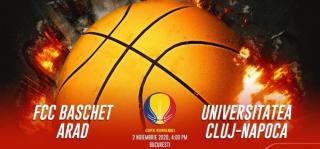 LIVE VIDEO | FCC Baschet Arad - U Cluj Napoca