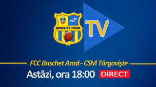 LIVE VIDEO : FCC Arad - CSM Targoviste